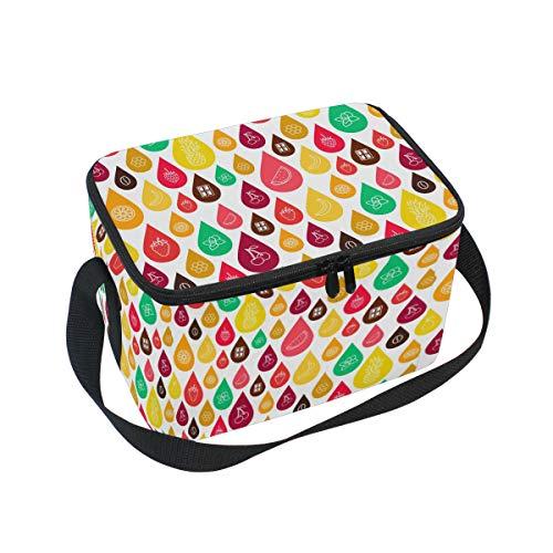 Ahomy portapranzo a forma di ananas, fragola, anguria, borsa termica per il pranzo, per esterni, scuola, ufficio, portapranzo per bambini e adulti