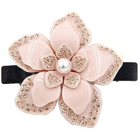 Mai Dou Fleurs Faits à La Main Diamant Perle épingle à Cheveux Couvre-chef,Beige-OneSize