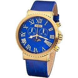 AUER Persian Blue ZU-711-GBL Herrenchronograph SWISS ISA