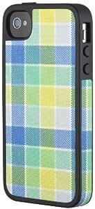 Speck SPK-A1054 Half Tone Plaid FabShell Tasche für Apple iPhone 4S blau/gelb