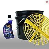 MEGUIAR'S_bundle Meguiars Autopflege Set Putzeimer mit Einsatz Grit Guard + NXT Car Wash Shampoo