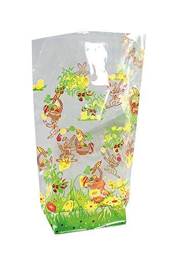 Folia 251Bolsas de celofán con impresión de Pascua, 11,5x 19cm, 10Unidades