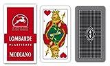 modiano 300029 carte da gioco lombarde 7/90 plastificate
