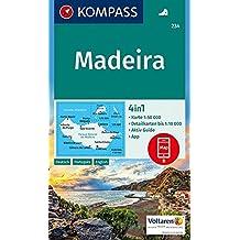 Madeira: 4in1 Wanderkarte 1:50000 mit Aktiv Guide und Detailkarten inklusive Karte zur offline Verwendung in der KOMPASS-App. (KOMPASS-Wanderkarten, Band 234)