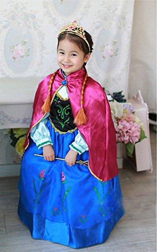 Disfraz Elsa Anna Frozen con Varita Y Corona