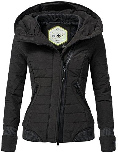 Khujo giacca invernale da donna con cappuccio notturna nero XL