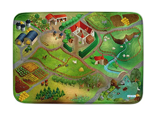*Spielteppich Ultrasoft – Rutschfest 100 x 150 cm (Bauernhof)*