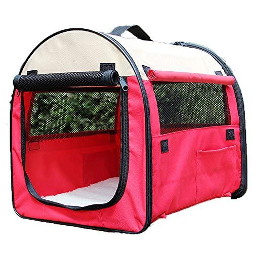 Tragbares Hundezelt Und Auto-Transportbox Faltbar Transportbox Für Hunde Hundebox Auto,Red-XL