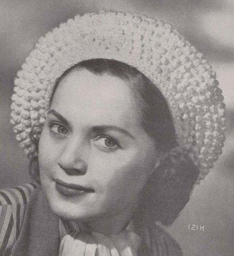 Popcorn Beret Crochet Pattern Cap Hat Vintage (English Edition) -
