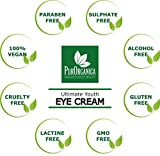 PurOrganica Eye Cream for Dark Circles, Puffiness, Eye Bags, Wrinkles and Crow's Feet – Double Sized 30ML - Organic Anti Ageing Cream with Vitamin C, Hyaluronic Acid, Jojoba Oil and Vitamin E - Best Natural Treatment for Women and Men - 100% Satisfaction or Your Money Back Guarantee Bild 3