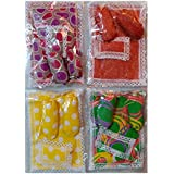 """Ladoo Gopal Cotton Gadi Takia Sets Of 4 (which Includes 2 PIECE GADI AND 1 CUSHION)-Size 6""""x4.5"""""""