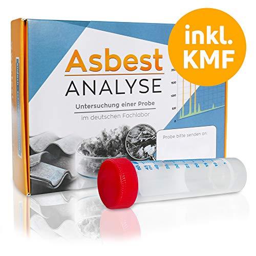 Asbesttest + KMF Test - Analyse einer Staubprobe oder Materialprobe im Labor auf Asbest und Künstlichen Mineralfasern (KMF)
