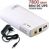 Inepo Mini UPS Inepo GM312, Gruppo di continuità con batteria incorporata da 7800mah agli ioni di litio e input di 11-13V DC, power bank per router wireless, luci led, videocamere, telefoni e altre pe
