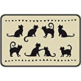 Teppich Décor Silhouetten Katze