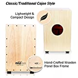 Pyle String Cajon - Wooden Percussion Box, with Internal Guitar Strings, Medium Size (PCJD18)
