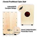 Pyle Cordes Cajon?Boîte à percussion en bois, avec Interne Cordes pour guitare, taille Medium (Pcjd18)
