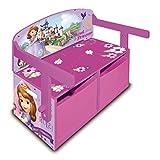 Arditex 008325 - Bureau + Banc + Coffre De Jouets En Bois - Meuble 3 En 1 - La Petite Princesse Sofia