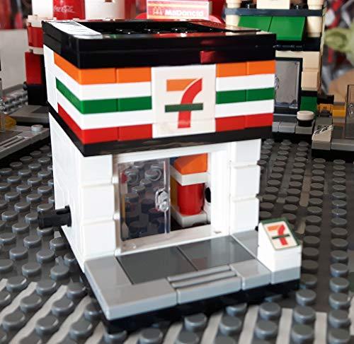 Mini Street Modular Bausteine Haus Supermarkt, 98 teiliges Konstruktionsspielzeug