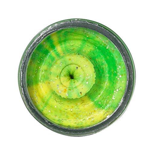 BerkleyPowerbait Dough Natural Scent Fish Pellet Fluo Green Yellow