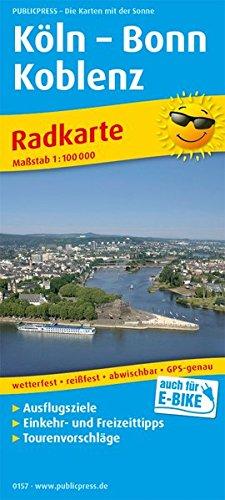 Köln - Bonn - Koblenz: Radkarte mit Ausflugszielen, Einkehr- & Freizeittipps, wetterfest, reissfest, abwischbar, GPS-genau. 1:100000 (Radkarte / RK)