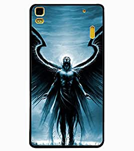 ColourCraft Man With Feather Design Back Case Cover for LENOVO A7000 PLUS