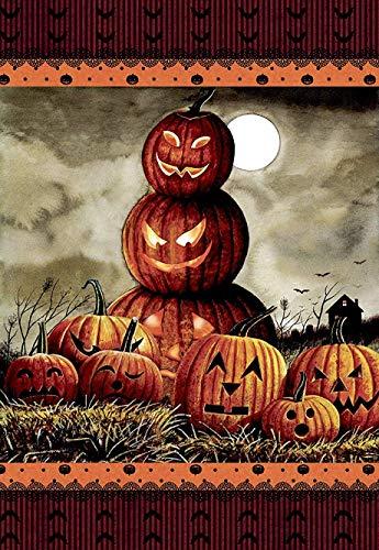 -Flagge, gruselig, Halloween-Herbst-Laterne, Kürbis-Motiv, doppelseitig, 31,8 x 45,7 cm ()