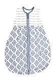 Emma & Noah Baby Schlafsack, Kugelschlafsack, Übergangsschlafsack (1.0 Tog), 100% Baumwolle, Größe: 110 cm, Farbe: Blau, ideal als Babyschlafsack …