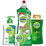 Dettol Hand Wash Original - 200 Ml With Dettol Original Soap - 125g, Dettol Kitchen Gel Lime - 750 Ml And Dettol...