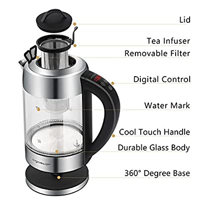 Aigostar-Krystal-30KLR-Elektrischer-Wasserkocher-mit-Temperaturregelung-Warmhalte-und-Dechloririerungsfunktion-2200-Watt-17L-LED-Anzeige