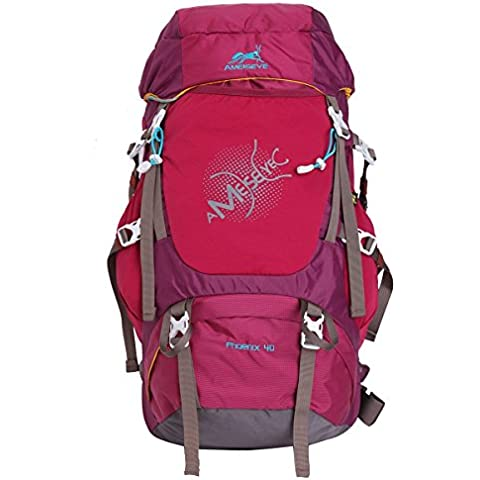 Eshow Bolsos unisex de nylon al aire libre Senderismo Daypack del Camping Mochila de viaje bolsas Mochilas de deporte Casual