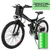 Profun Vélo de Montagne électrique 27.5/26/20 Pouces 350W/250W avec Shimano 24/21/7...