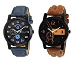 #3: Rich Club Analogue Black Blue Dial Mens|Boys Watch Rel-Denim