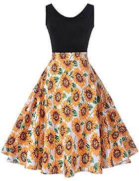 Sponsorizzato KUONUO Vestito Donna Elegante Da Cerimonia Cocktail 62ce17987f3