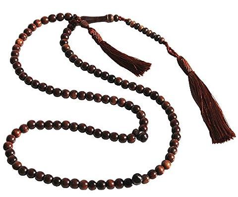 Einzigartige Kleine Exotische Eisen Holz Gebetskette tasbih, Muslim rosary- Holzperlen