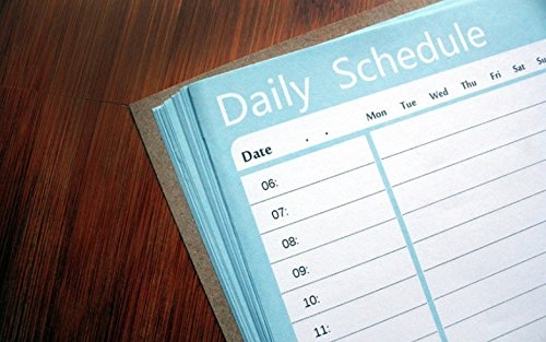 JinZhiCheng Zart Akademische Daily Student Wall Planner Zeitplan Kalender Aufkleber (hellblau)