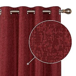 Deconovo 100% Blickdicht Gardinen mit Ösen Thermogardinen Kälteschutz Verdunkelungsvorhang Schlafzimmer 183×132 cm Taupe…