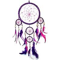 30cm x 9cm  Türkis Weiß Lila Bunter Dreamcatcher Traumfänger Indianer