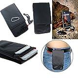 K-S-Trade Gürteltasche Caterpillar Cat S31 Brusttasche Brustbeutel Schutz Hülle Smartphone Case Handy schwarz Travel Bag Travel-Case vertikal