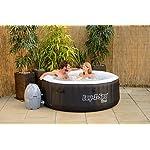 Lay-Z-Spa Miami Inflatable Hot Tub Spa – Black, 180 x 65 cm