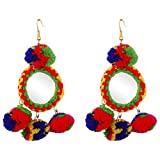 FreshVibes Pom Pom Earrings for Women - ...