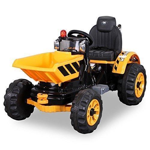 *Kinder Radlader JS328C 2 x 25 Watt Motor Elektro Lader Kinderauto Kinderfahrzeug Spielzeug für Kinder Kinderspielzeug (gelb)*