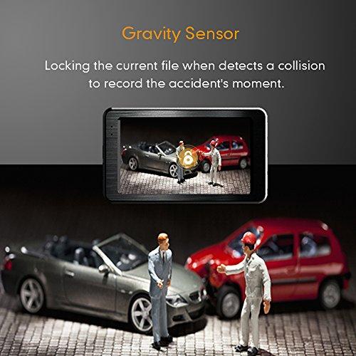 Mibao Dash Cam per Auto Telecamera Auto Dashcam 1080P con 3.0″ LCD, 170 Gradi, 6 Glens, G-Sensor, WDR, Rilevazione di Movimento, Registrazione in Loop, Monitor di Parcheggio - 6
