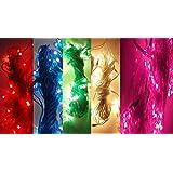 FIZZYTECH Plastic Rice Lights Serial Bulbs Ladi Decoration Lighting for Diwali Christmas(5 Mtrs)-Set of 10_Multicolour (Orginal Product ONLY Buy FIZZYTECH Seller)