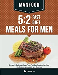 MANFOOD: 5:2 Fast Diet Meals For Men: Simple & Delicious, Fuss Free, Fast Day Recipes For Men Under 200, 300, 400 & 500 Calories by CookNation (2014) Paperback