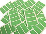 80 Labels 50x20mm Rectangle, Light Green Colour Code Stickers, Self-Adhesive Sticky Coloured Labels