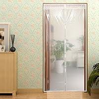Cortina de invierno transparente, protector de puerta magnético con aislante térmico, cortina para puerta, disfrute del verano fresco y del cálido invierno, cortina de puerta automática 90X210cm