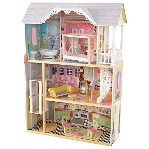 KidKraft Kaylee Puppenhaus + 10Stück Puppen-Möbel (ab 3 Jahre)