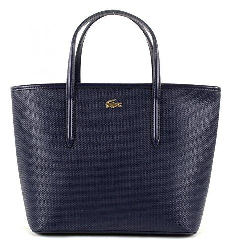 Lacoste Women' s Women' s Shoulder Bag 100% Leather Peacoat (Blue)