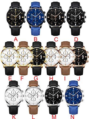DAYLIN Relojes Esfera Grande Hombre de Lujo Negocios Reloj Militar Deportivo Reloj Automatico de Pulsera...