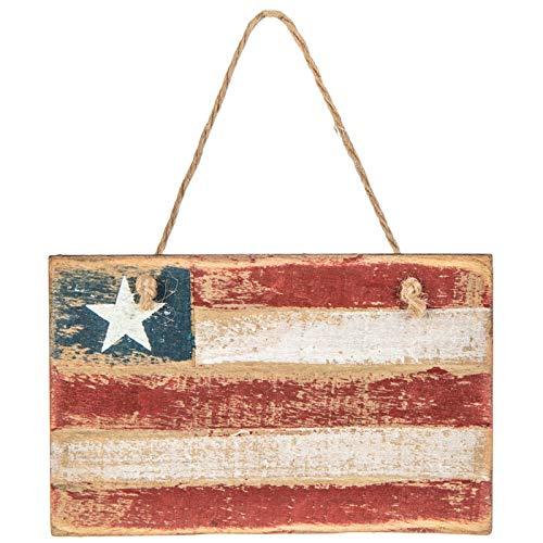 Scout & Company Patriotische amerikanische Flagge, Holzornament, rustikales Landhausdekor, amerikanisches Geschenk für Männer und Frauen, Militär-Veteranen